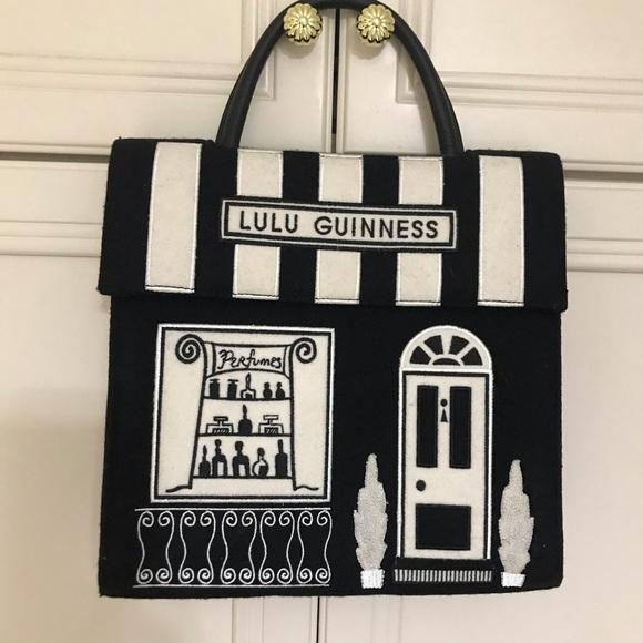 Original vintage Lulu Guinness felt bag never used